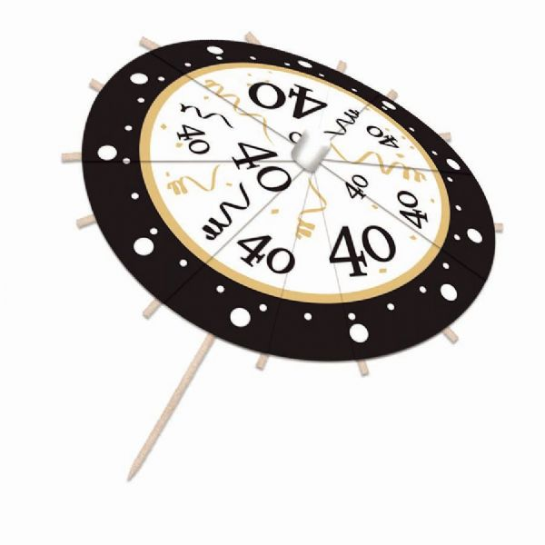 40th Birthday Drink Umbrellas Party Favor Favour